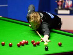 Kyren Wilson was in fine form against Shaun Murphy at the Crucible (Zac Goodwin/PA)