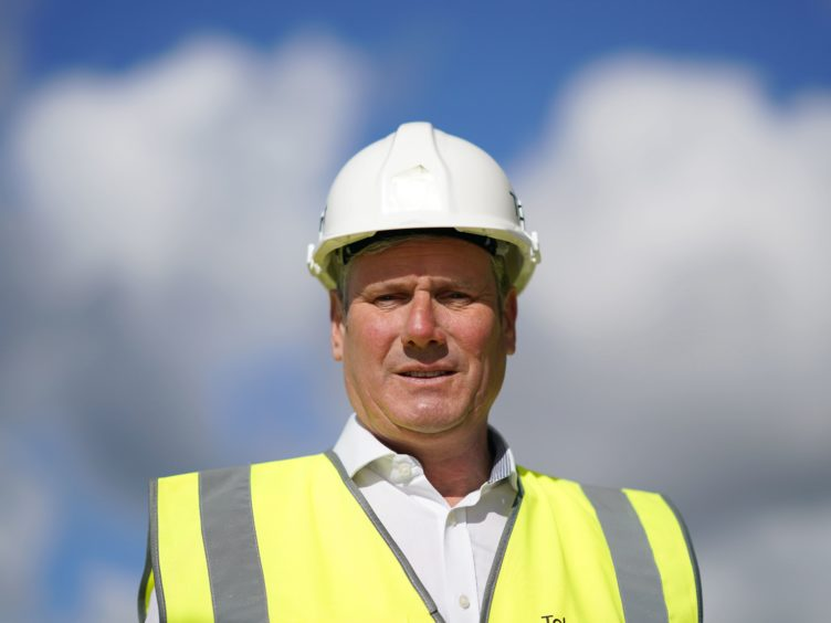 Labour leader Sir Keir Starmer during a visit to a site development on the banks of the River Wear in Durham (Ian Forsyth/PA)