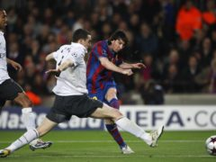 Lionel Messi scored all four goals against Arsenal (Nick Potts/PA)