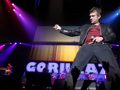 Damon Albarn performs with Gorillaz (Peter Byrne/PA)