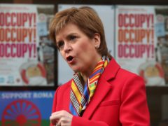 SNP leader Nicola Sturgeon told trade union activists there was 'no limit' to her party's ambition on jobs (Andrew Milligan/PA)