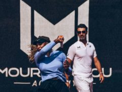 Patrick Mouratoglou, right, has coached Serena Williams since 2012 (Mouratoglou Academy handout)