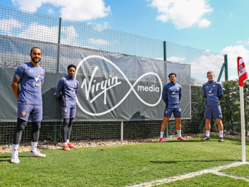 Southampton footballers feature in the video lesson (Virgin Media/PA)