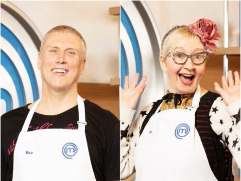 Happy Mondays star Bez and comedy actress Su Pollard are taking part in Celebrity MasterChef (BBC)