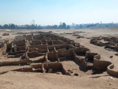 An archaeological discovery as part of the Lost Golden City in Luxor, Egypt (Zahi Hawass Centre For Egyptology via AP)