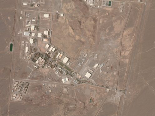 This satellite photo shows Iran's Natanz nuclear facility (Planet Labs/AP)