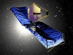 An artist's impression of the James Webb Space Telescope (TRW/Nasa)