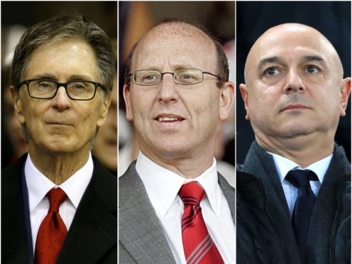 'Big Six' clubs owned by John W Henry, Joel Glazer's family and Daniel Levy have pulled out of the European Super League (PA)