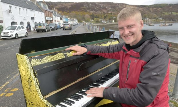 Piano James vows to press on after instrument damaged following arrest near Arbroath