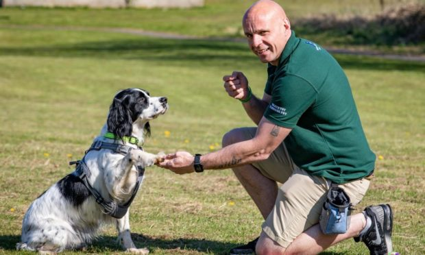 'He gave me a paw to say it will be OK': Fife veteran on how dogs help with mental health