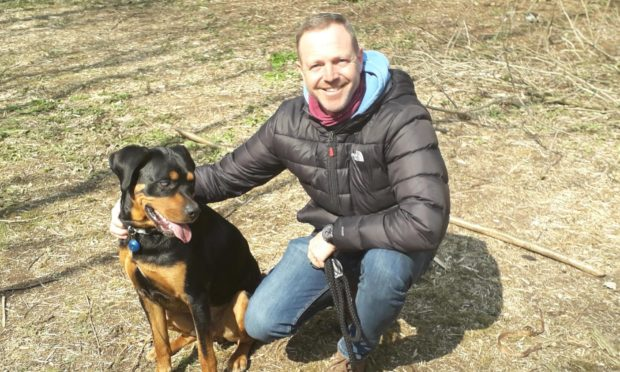 Rottweiler who arrived blind, abused and underweight inspires Angus veteran making a fresh start