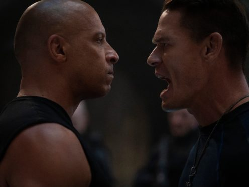 Vin Diesel as Dom and John Cena as Jakob in Fast & Furious 9 (Universal/PA)