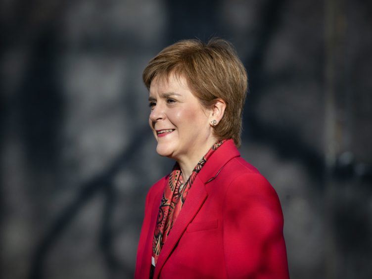 Nicola Sturgeon said Scots could 'unite' around the SNP election manifesto (Jane Barlow/PA)