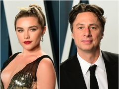 Florence Pugh shared a touching message for actor boyfriend Zach Braff on his 46th birthday (PA)