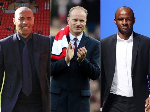 Thierry Henry, Dennis Bergkamp and Patrick Vieira have been linked with a takeover attempt of Arsenal (PA)