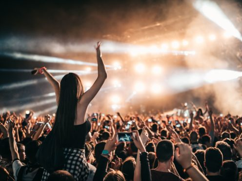 Crowd partying at a music gig (PA)