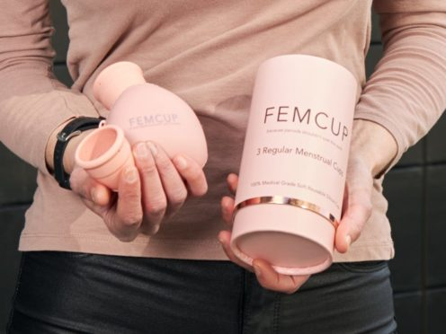 Julie Fitzpatrick has founded Femcup in a bid to offer an environmentally friendly alternative to tampons and sanitary towels (Ginger PR/PA)