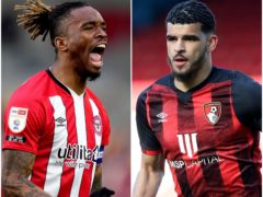 Brentford striker Ivan Toney, left, and Bournemouth forward Dominic Solanke, right, have scored a combined 46 Sky Bet Championship goals this season (PA)