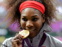 Serena Williams with her Olympics singles gold medal in London in 2012 (Rebecca Naden/PA)
