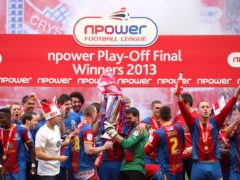 Crystal Palace celebrate promotion to the Premier League in 2013 (Stephen Pond/PA)
