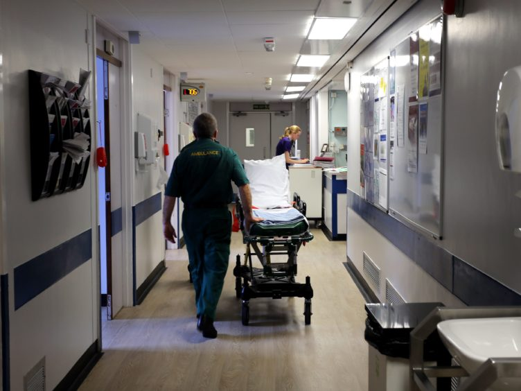 Delayed discharges increased n Scotland after the start of the pandemic (Peter Byrne/PA)