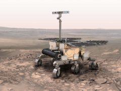 An artist's impression of the Rosalind Franklin Mars rover (ESA)