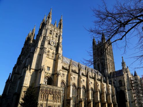 A view of Canterbury Cathedral in Kent (Gareth Fuller/PA)