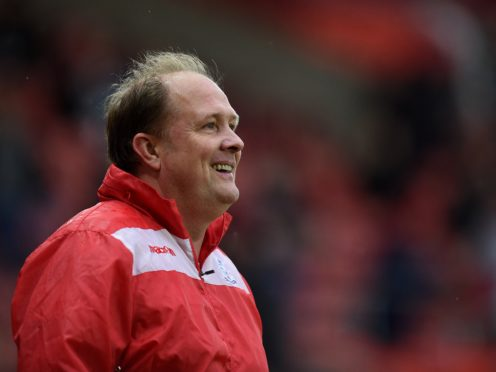 Bromley boss Andy Woodman was all smiles following a thrilling victory at Aldershot (Andrew Matthews/PA)