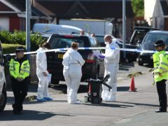 The scene in Telford, after Dalian Atkinson was tasered (Joe Giddens/PA)