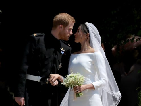 Harry and Meghan on their wedding day in 2018 (Jane Barlow/PA)