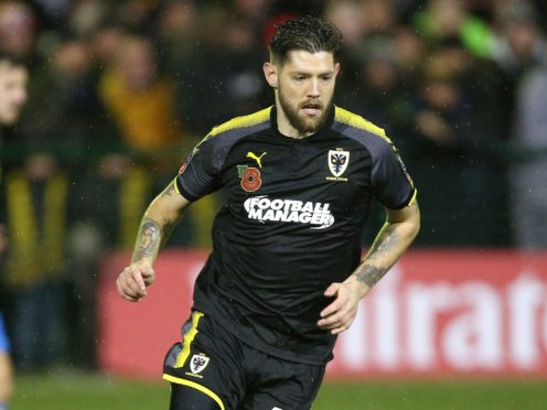 Former AFC Wimbledon midfielder Anthony Wordsworth was on target for the Bees (Nigel French/PA)