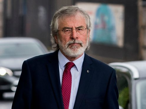 Former Sinn Fein president Gerry Adams arrives at Belfast Coroner's Court to give evidence into the fatal shooting of 10 people in Ballymurphy in 1971 (Liam McBurney/PA)