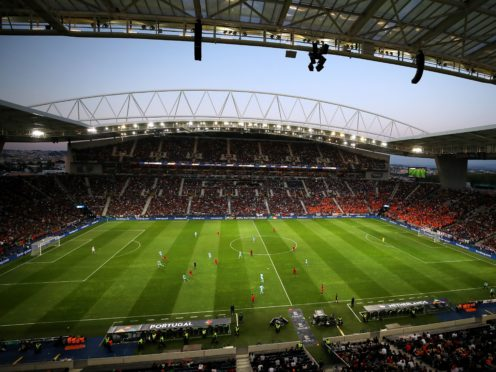 The Estadio do Dragao in Porto is in contention to host this month's Champions League final (Tim Goode/PA)