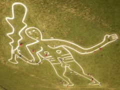 The Cerne Abbas Giant was probably first constructed in the late Saxon period, according to new analysis (Ben Birchall/PA)