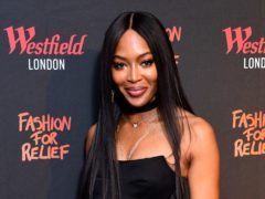 Naomi Campbell attends the Fashion for Relief Charity pop-up store launch at Westfield, London (Ian West/PA)