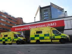 NHS ambulances parked outside the accident and emergency (A&E) department of St Thomas' Hospital in central London (PA)