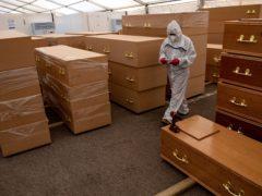 Coffins (Jacob King/PA)