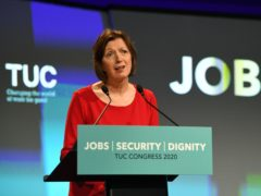 Frances O'Grady said people deserve to be treated with dignity at work (Stefan Rousseau/PA)