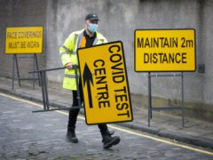 A Covid-19 test centre in Dundee (Jane Barlow/PA)