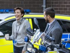 Vicky McClure and Martin Compston on the set of the sixth series of Line Of Duty (Liam McBurney/PA)