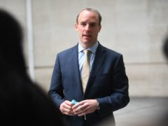 Foreign Secretary Dominic Raab said hostile state actors are targeting the foundations of democracy (Victoria Jones/PA)