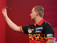 Dimitri Van Den Bergh set up a Premier League a showdown with Jonny Clayton after drawing with James Wade (Zac Goodwin/PA)