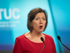 Frances O'Grady, General Secretary of the TUC, accuses Government of rowing back on workers' rights (Stefan Rousseau/PA)