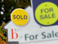 A record one in three homes sold across the UK in April went for more than the asking price, according to Propertymark (Andrew Matthews/PA)