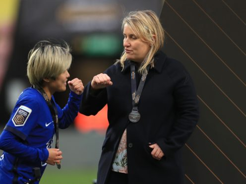 "Emma Hayes, right, has stressed ""we're about winning things"" at Chelsea (Mike Egerton/PA)"