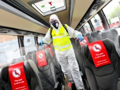 A cut in costs has driven up operating profit, despite low passenger numbers (National Express/PA)