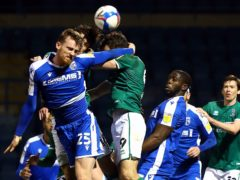 Robbie Cundy (left) missed Gillingham's clash against Burton last week (Gareth Fuller/PA)