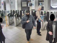 Usman Khan at Bank station to attend a prisoner rehabilitation event (Metropolitan Police/PA)