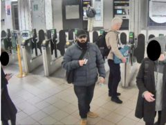 Usman Khan arriving at Bank station to attend a prisoner rehabilitation event at the hall near London Bridge (Metropolitan Police/PA)