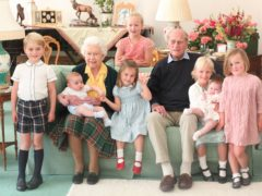 The Queen and the Duke of Edinburgh with seven of their great-grandchildren (The Duke and Duchess of Cambridge/PA)